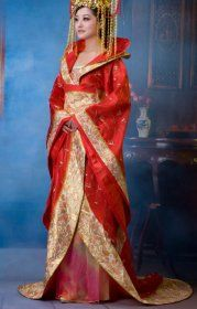 Chinese Costume Hanfu , red chinese wedding dress, Stage costumes,