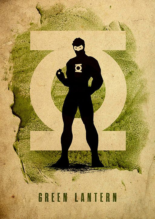 Green Lantern :: Justice League Minimalist Poster by moonposter on Etsy