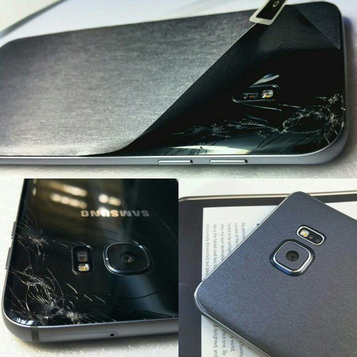 Folii Carbon 3M Matt Silver Samsung Galaxy S6 Edge Plus