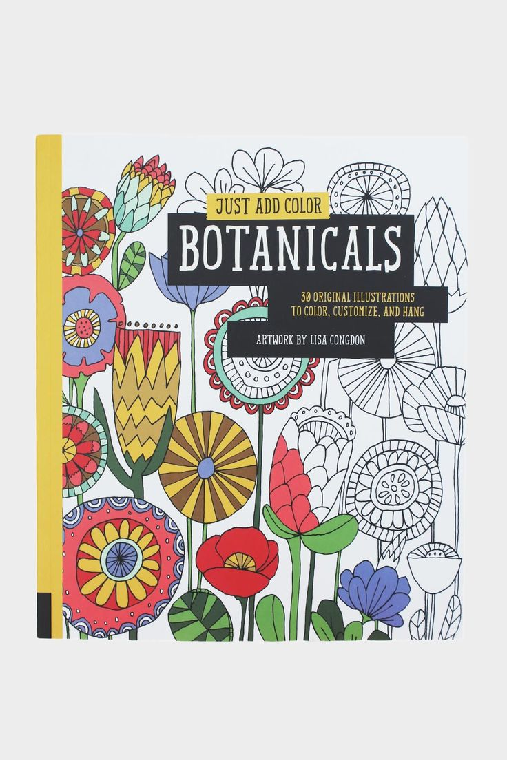Publishers for adult coloring books - Botanicals Coloring Book
