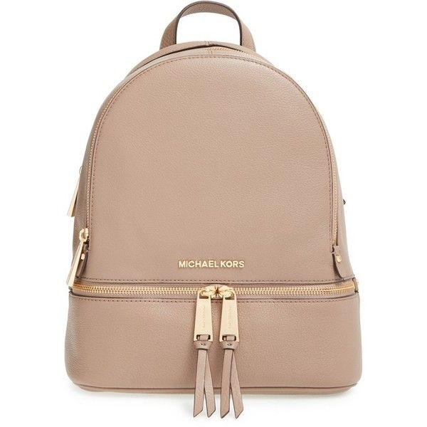 bbfbc1c48ec7f MICHAEL Michael Kors Small Rhea Zip Leather Backpack found on Polyvore  featuring bags