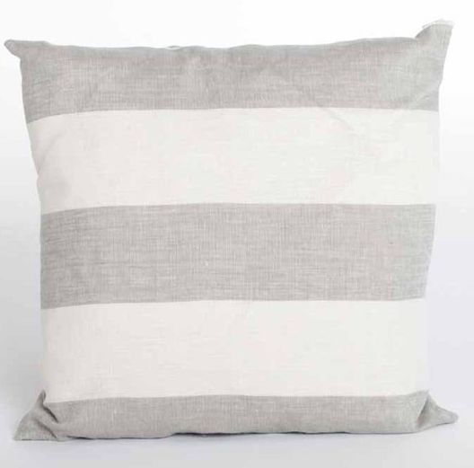 Grey Linen Stripe Cushion, Also Available in Blue - £26.00 - Hicks and Hicks