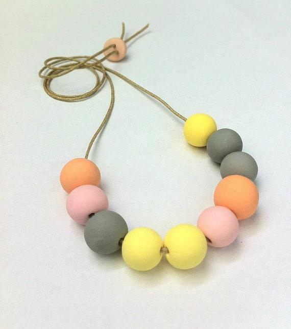 Clay Bead Necklace