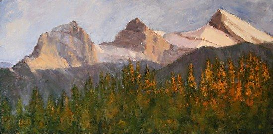 Donna MacDonald, Three Sisters in Light, oil