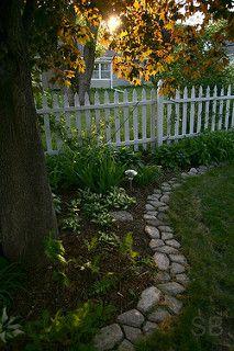 Stones for the garden/lawn border.