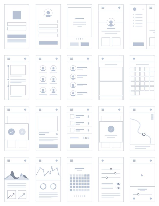 Mobile & UI:Mini Mobile Application Wireframe (PSD)