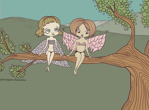 Little Fairies. by Gala Gargano, via Behance