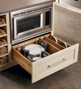 Storage Solutions Details - Plate Caddy - KraftMaid