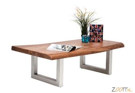 Kare Design Nature Line Salontafel - De Kare Design Nature Line Salontafel is een tafel gemaakt van gewaxt acaciahout. Het tafelblad van de salontafel is gevestigd op een onderstel van stalen poten met een antieke look. Een mooi uitziende koffietafel die voor diverse doeleinden ingezet kan worden.