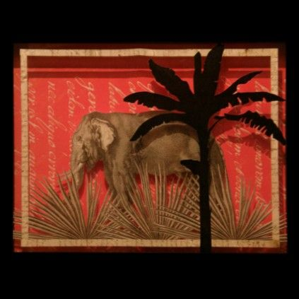 Elephant and Palm Trees See>> http://www.restyleit.it/en/gallery/art-prints-and-drawings/still-life/elephant-and-palm-trees.html
