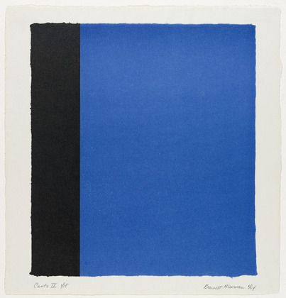 Artist: Barnett Newman Completion Date: 1963 Style: Color Field Painting Series: 18 Cantos Genre: abstract painting
