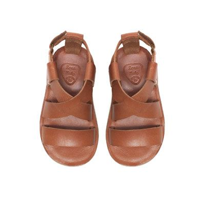 Image 1 of Trendy leather sandal from Zara