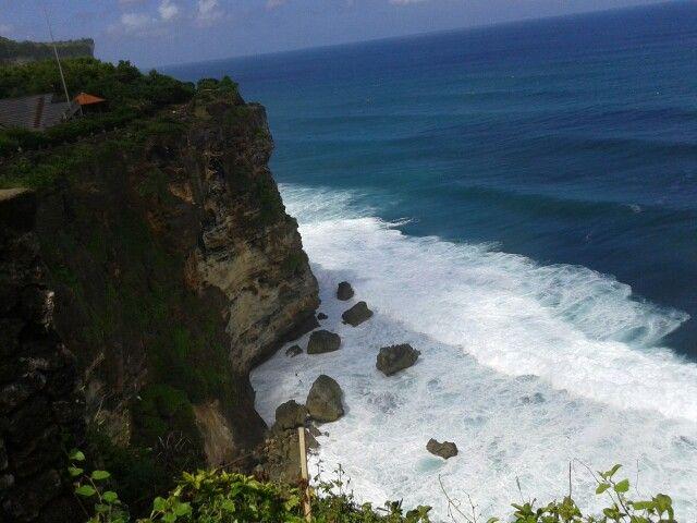 Uluwatu cliff and Beach Bali Indonesia