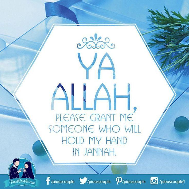 #dua #allah #someone #hold #hand #jannah #spouse #piouscouple.com