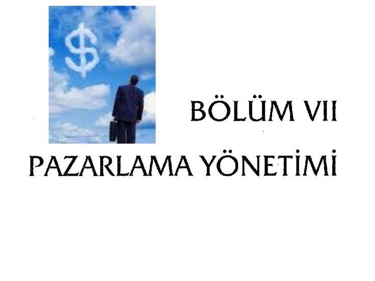 Pazarlama  by ersinweb via slideshare