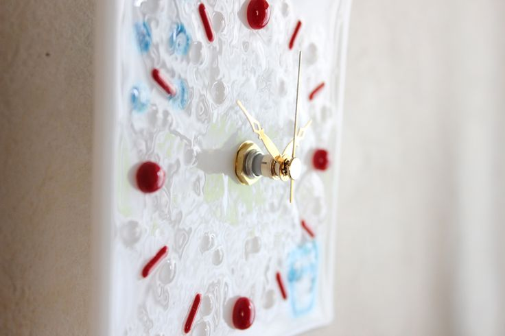 fused glass clock french