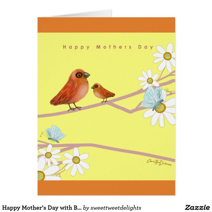Happy Mother's Day with Birds Card  #mothersday