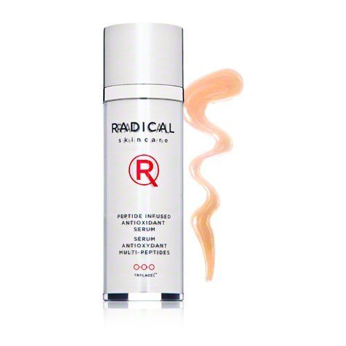 Radical Skincare Peptide Infused Antioxidant Serum 1 fl oz. by Radical Skincare. $190.00. Protects, Repairs, Firms. Radical Skincare Peptide Infused Antioxidant Serum reduces the appearance of fine lines, wrinkles, dryness and sagginess, helping your skin to look younger and firmer. Sodium hyaluronate binds water to your skin for a plump, full look. Tripeptides encourage skin renewal and strengthen collagen for diminished wrinkles. Caffeine stimulates circulation for...