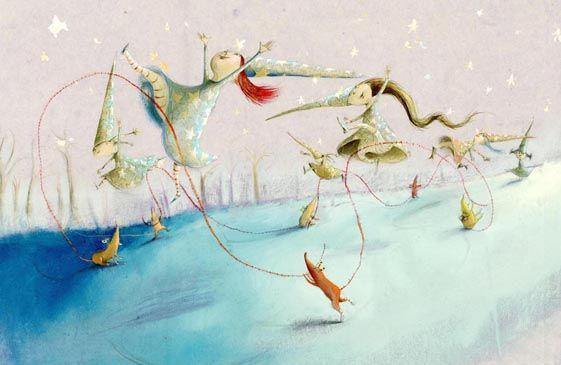 "Eva Montanari illustration for ""Witches and Fairies""."
