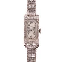 A Lady's Pery Diamond Cocktail Watch in Platinum