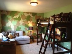Camouflage kids room decor