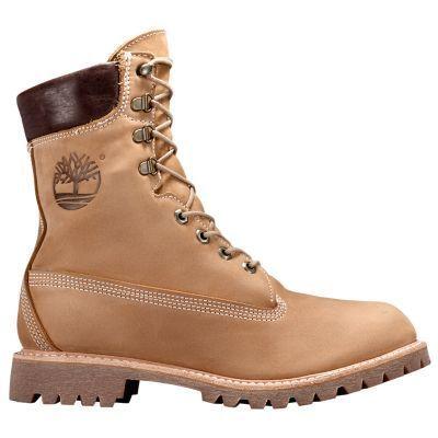 Timberland Men's 8-Inch Premium USA Waterproof Boots (Wheat Full-Grain)