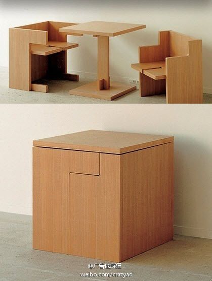 17 best ideas about space saver table on pinterest small. Black Bedroom Furniture Sets. Home Design Ideas