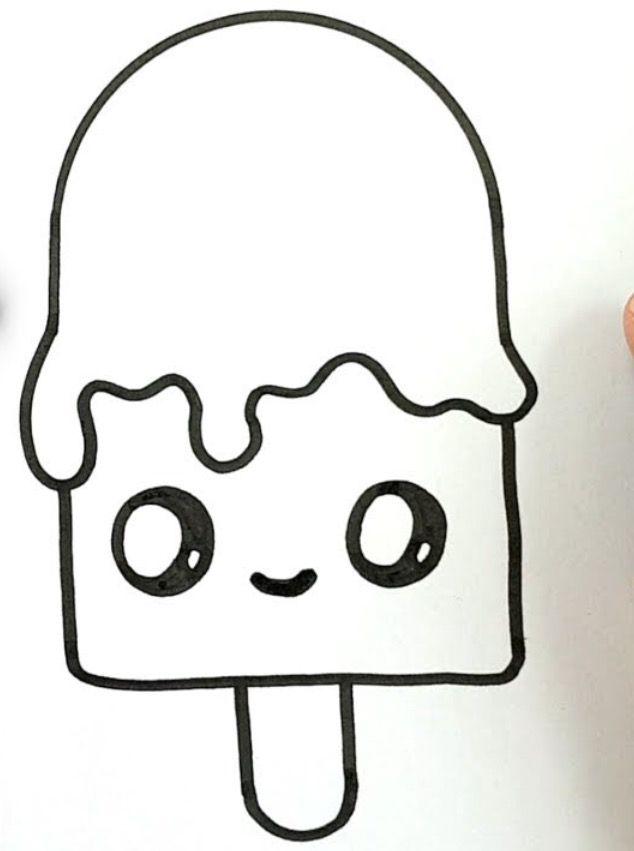 Кавайные картинки для срисовки простым карандашом