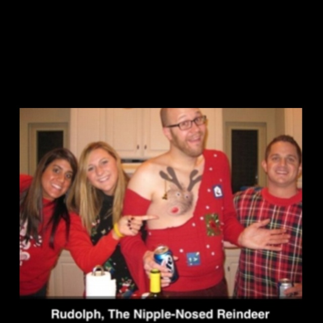 Winner of the ugly christmas sweater contest is