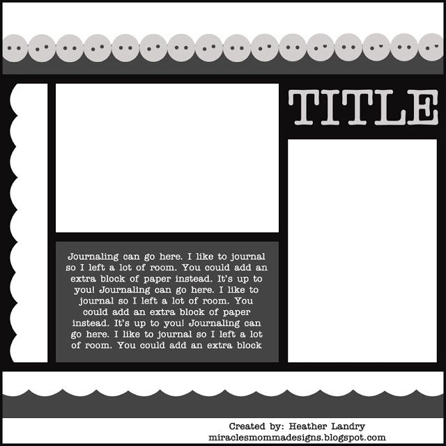Scrapbooking TammyTags -- TT - Designer - Miracles Momma Designs, TT- Item - Template