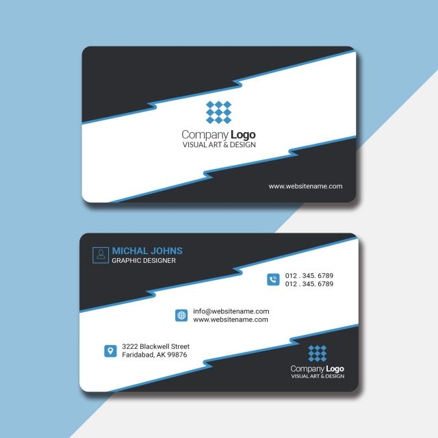 Fancy Business Card In Light Black And Blue Business Cards Vector Templates Vector Business Card Elegant Business Cards