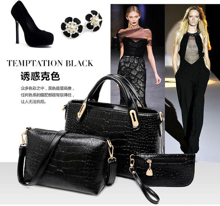 New 2015 women handbags leather handbag women messenger bags ladies brand designs bag bags Handbag+Messenger Bag+Purse 3 Sets-in Shoulder Bags from Luggage & Bags on Aliexpress.com   Alibaba Group