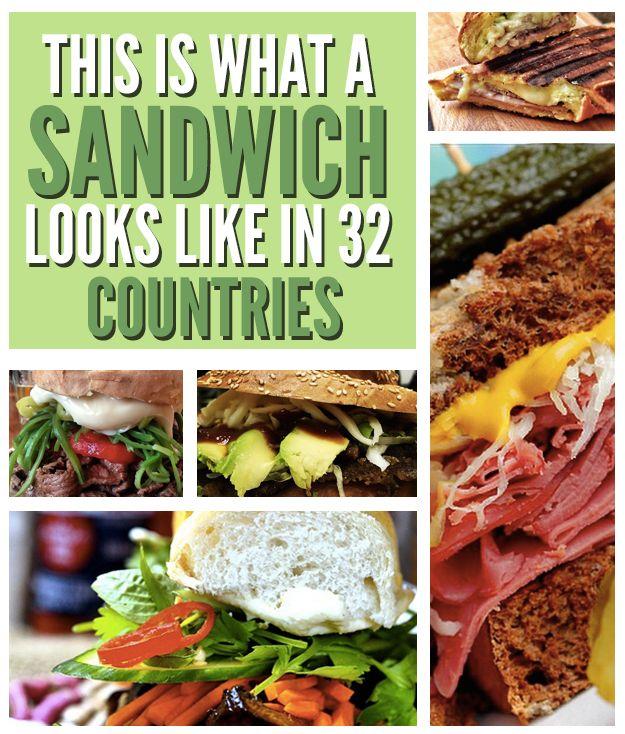32 Delicious Sandwiches From Around The World: Cemita-Mexico, Arepa-colombia, Medianoche-Cuba, Chacarero-Chile, (More) Arepas-Venezuela, Choripan-Argentina, Tripleta-Puerto Rico, Bocadillo-Spain, Chivito-Uruguay