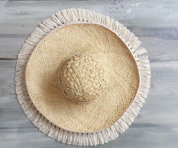 SOBRERO ECRU beach straw hat | Cleo Gatzeli  http://www.cleogatzeli.com/product-category/accessories/hats/