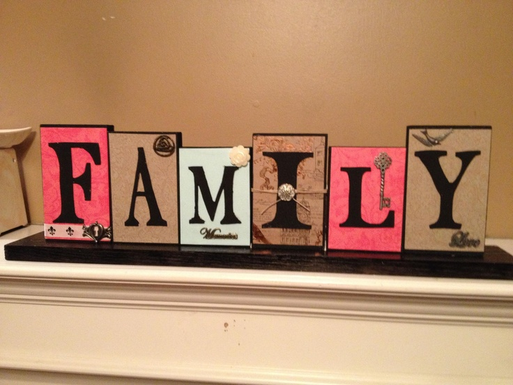hand made wood sign Family made with red oak wood $55