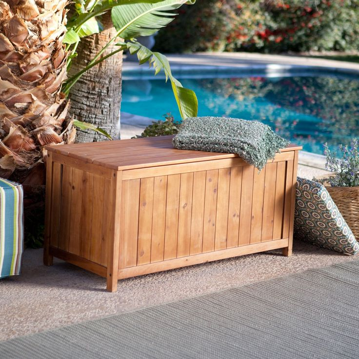 coral coast deck storage box warm honey stain