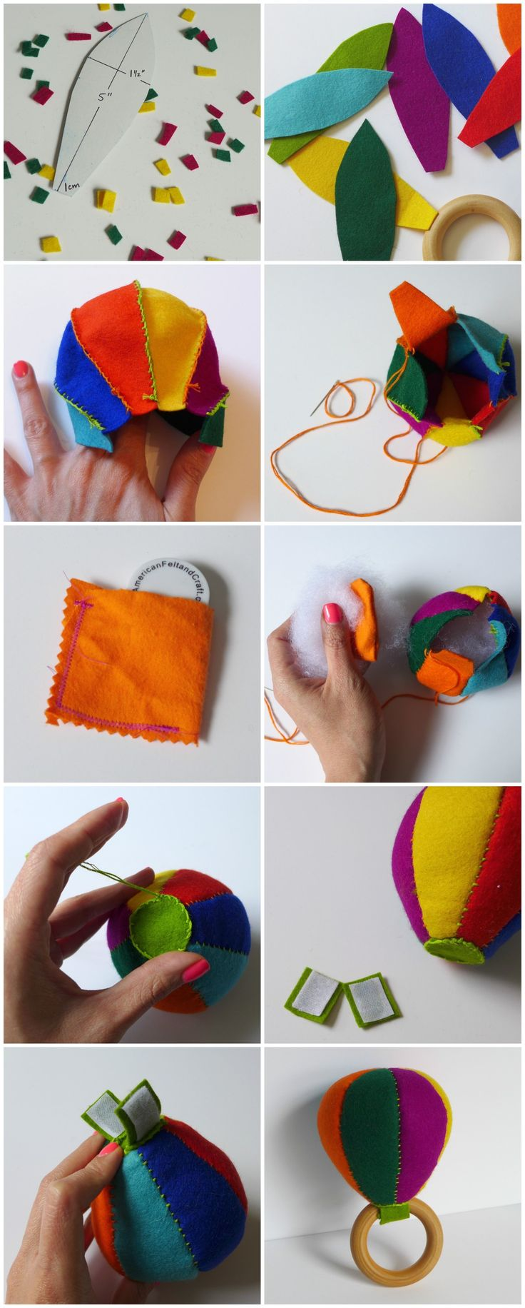 Tutorial to make a felt DIY Maraca Baby Rattle - Great craft project for Cinco de Mayo - by Yay for Handmade!