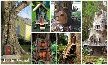 Интересный декор сада. Домик для феи. #JardinGenial #ландшафтный_дизайн  #Озеленение #Освещение #Полив #Постройки_на_участке