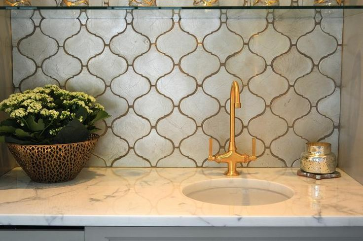 Silver arabesque tiles