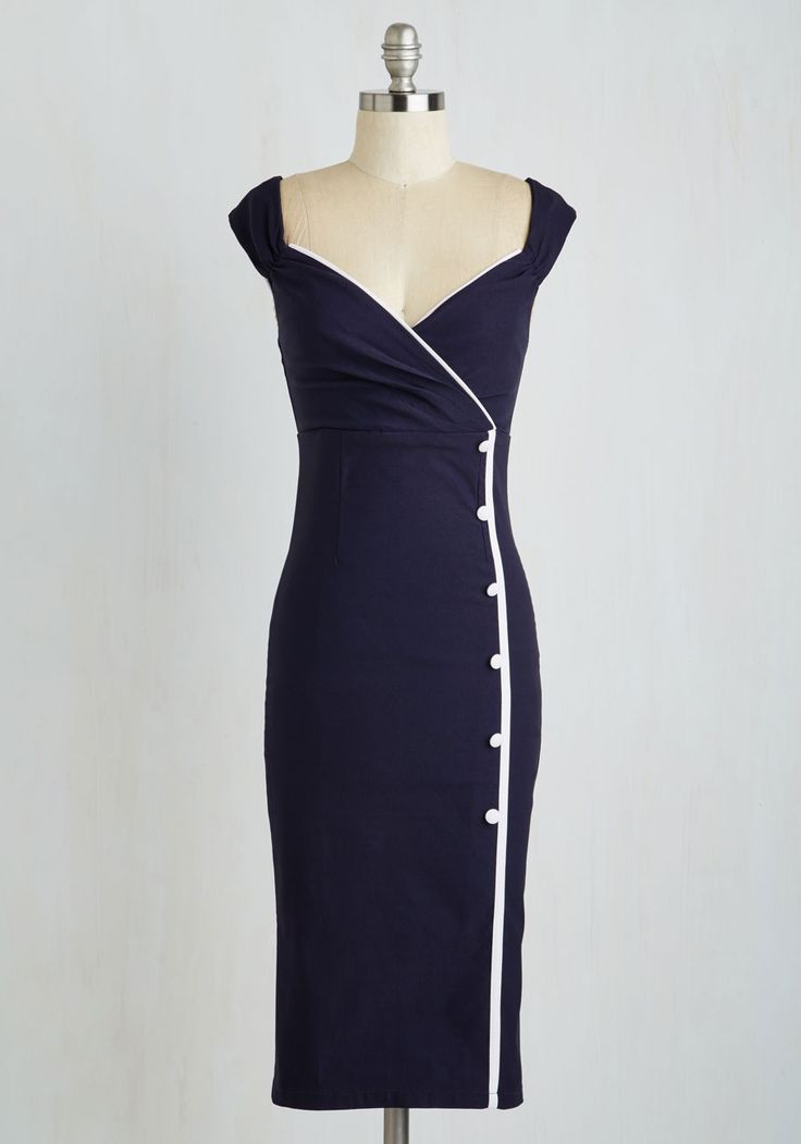 Weekly Write-up Dress in Navy, @ModCloth....i should have been born several generations back