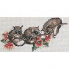 Lesley Suzanne Davies Possums Cross Stitch Kit