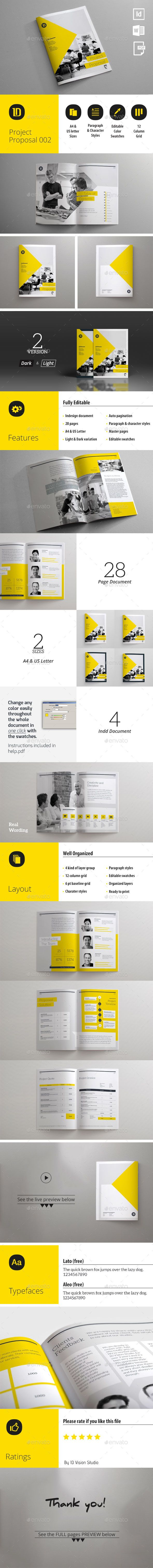 Project Proposal Template 002  — InDesign Template • Only available here ➝…