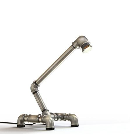 who are searching for a pipe desk lamp with an industrial personality the kozo 3 iron pipelamp makes perfect adjustable neck and led light lighting