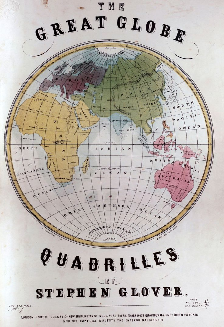 Michaelmoonsbookshop: €� The Great Globe Quadrilles By Stephen Glover Mid  19th Century Illustrated Cover Of