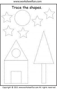 preschool shape tracing | Preschool Lucas | Pinterest ...