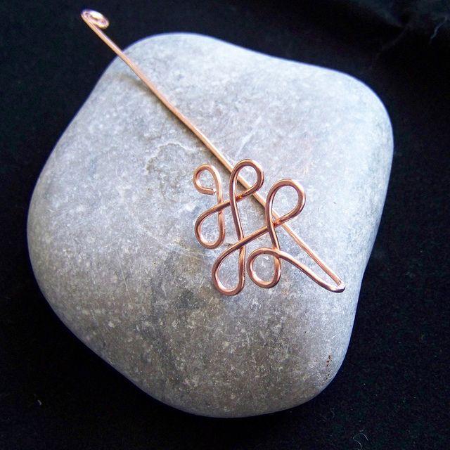 Copper wire twist bookmark 3 by NicoleHill, via Flickr