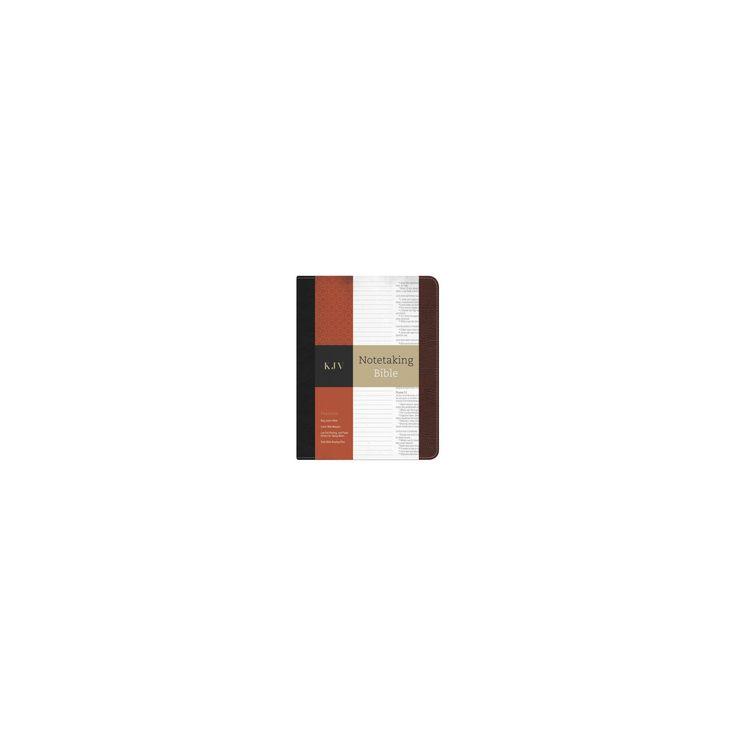 Holy Bible : King James Version, Black/Brown Bonded Leather, Notetaking Bible (Paperback)