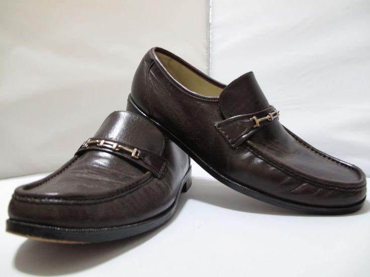 FLORSHEIM IMPERIAL Brown Leather Horse Bit Loafers Mens Size 11 Dress Shoes #Florsheim #LoafersSlipOns
