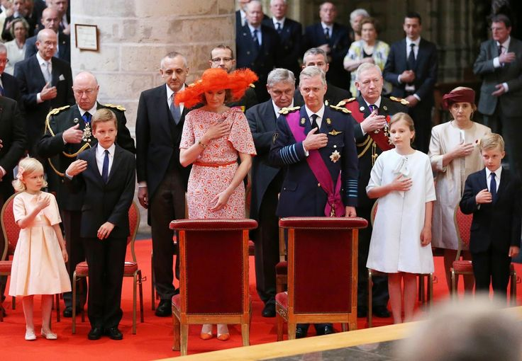 21 JULY 2014  National Day in Belgium Members of the Belgian Royal Family celebrates National Day in Brussels.