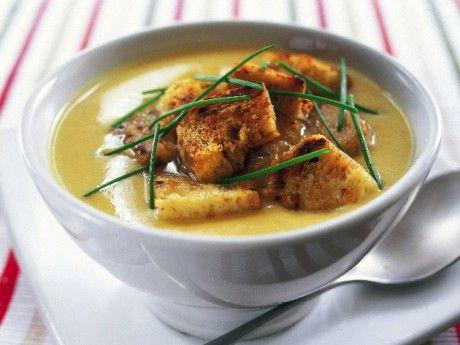 Het grönsakssoppa med krutonger Receptbild - Allt om Mat